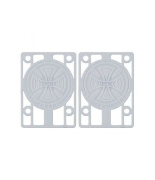 """Independent Risers 1/8"""" White - 2 Pack"""