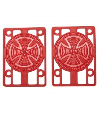 """Independent Risers 1/8"""" Red - 2 Pack"""