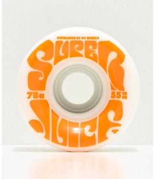 55mm OJ Mini Super Juice 78a White Skateboard Wheels