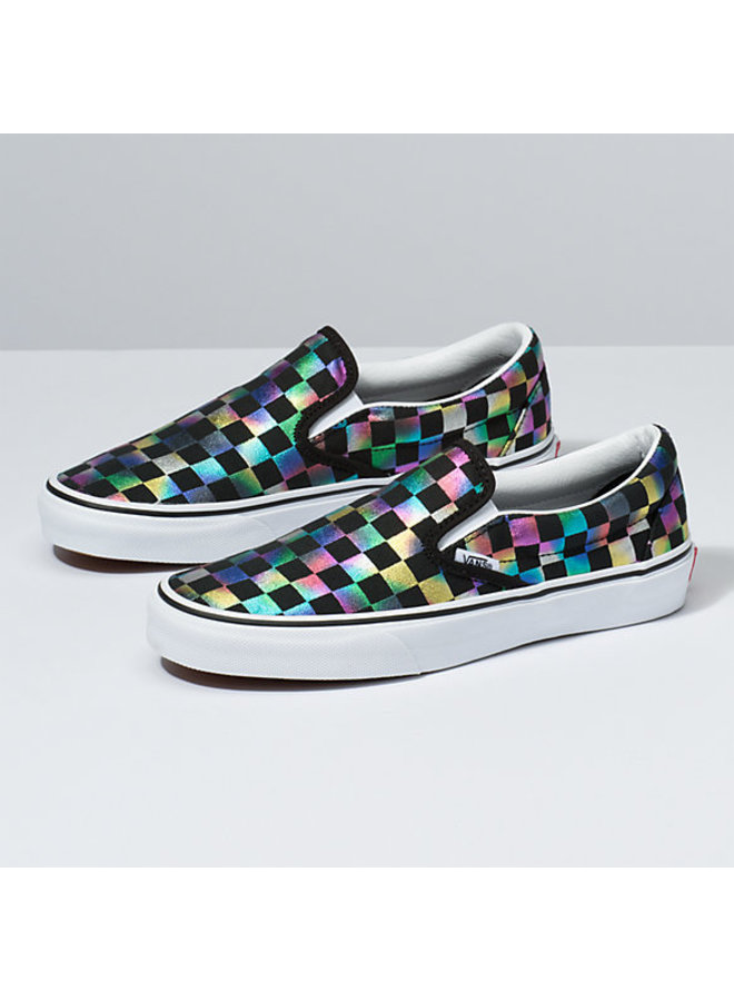 Vans Classic Slip On Shoes - Iridescent Checker