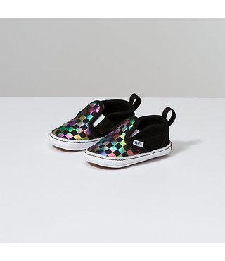 Vans Toddler Slip-On V Shoes - Iridescent Checker