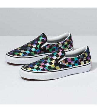 Vans Kids Classic Slip-On Shoes - Iridescent Checker