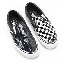 Vans Kids Classic Slip-On Shoes - Sequin Checker