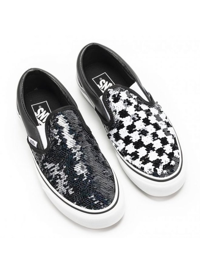 Vans Kids Classic Slip-On Shoes - Sequin Checker