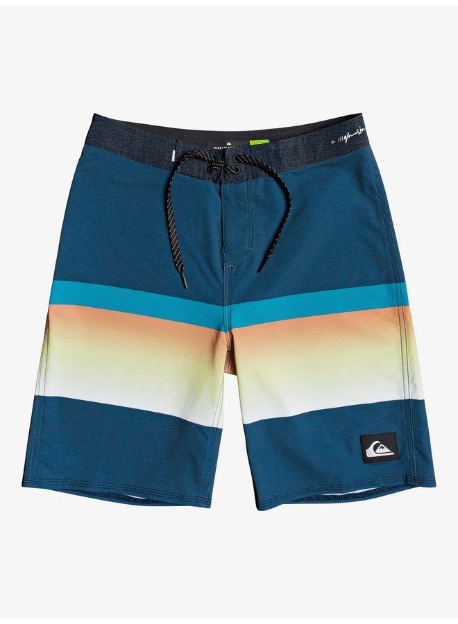 """Boy's 8-16 Highline Slab 18"""" Board Shorts - Maj Blue"""