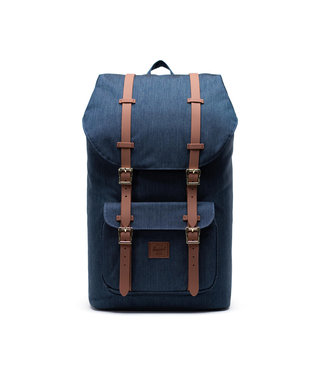 Herschel Little America Backpack - Indigo Denim Crosshatch/Black