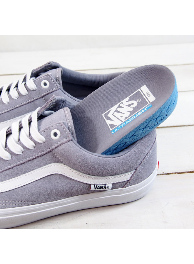 Vans Old Skool Pro Shoes - Lilac Gray/Wht