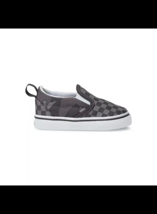 Vans Toddler Slip-On V Shoes - Tonal Checker