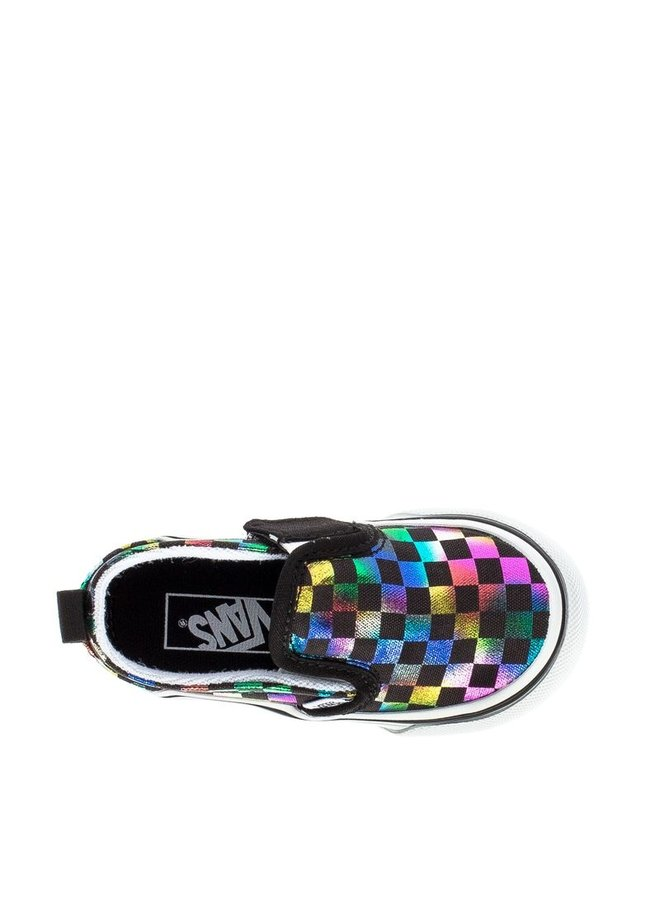 Vans Toddler Slip-On V Shoes - Iridescent Checker