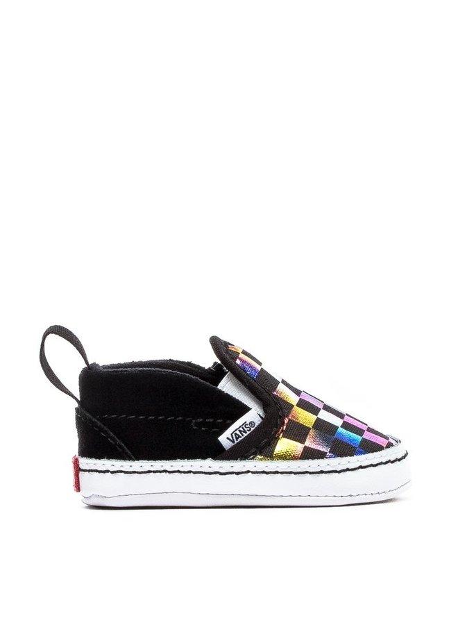 Vans Infant Slip-On V Shoes - Iridescent Checker