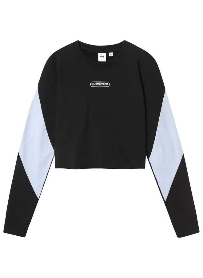 Bladez Crop Crew Sweater - Black