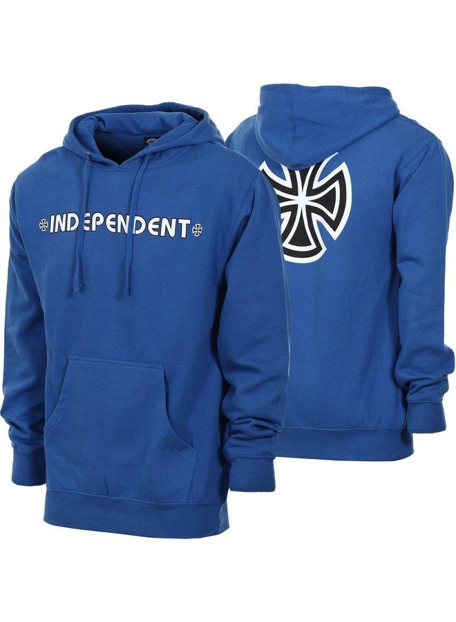 Indy Hoodie Bar/Cross - Royal Blue