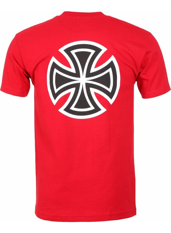 Indy T-Shirt Bar/Cross - Cardinal