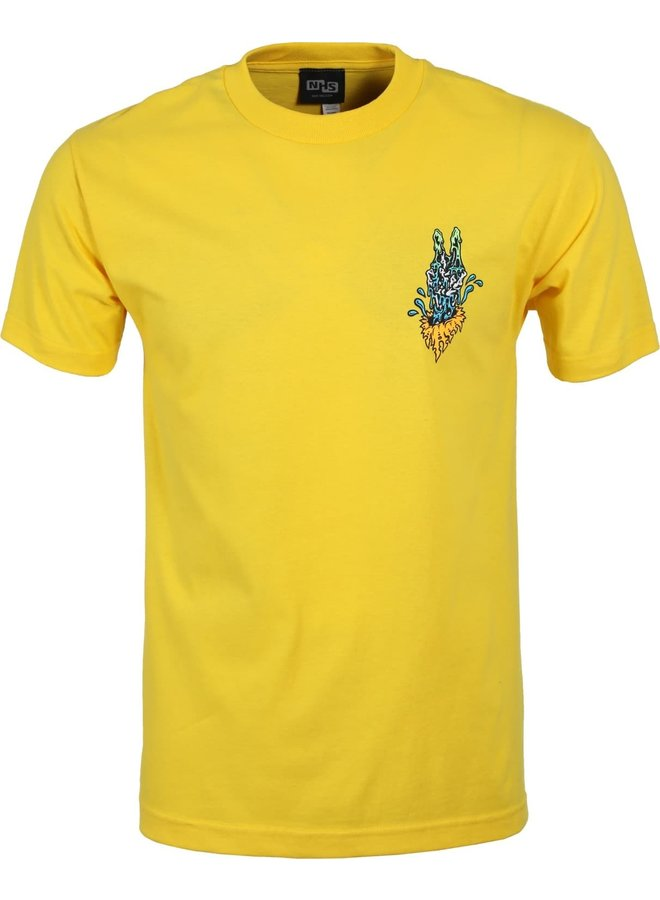 Slime Balls Peace Out T-Shirt - Yellow