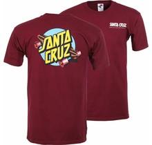 Santa Cruz Summer 76 T-Shirt - Burgundy