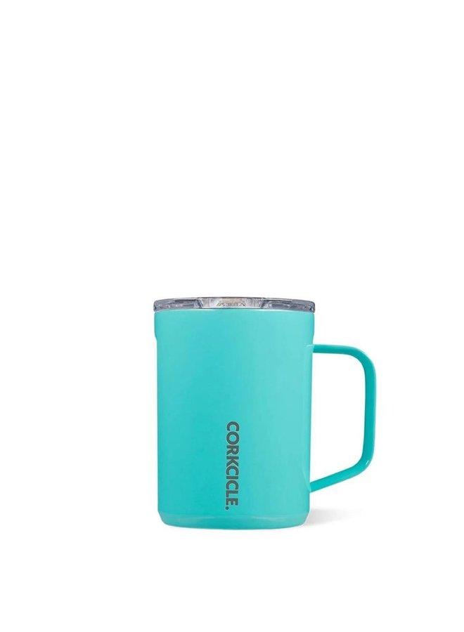 16oz. Coffee Mug - Gloss Turquoise