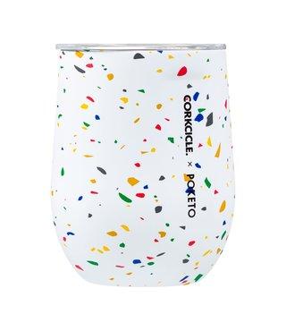 12oz. Poketo Stemless Cup - White Terrazzo