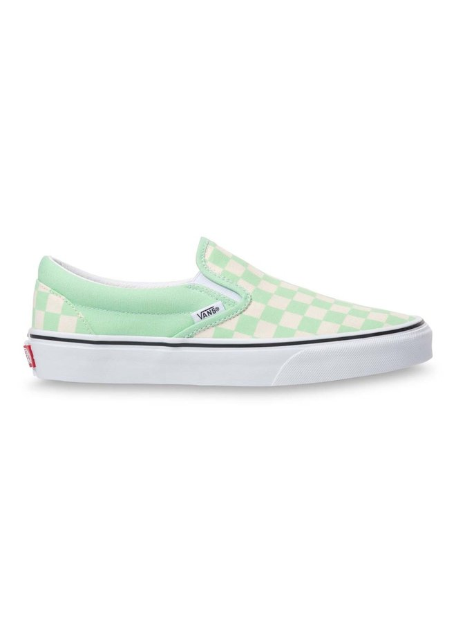 Classic Slip On Shoes - Green Ash Check