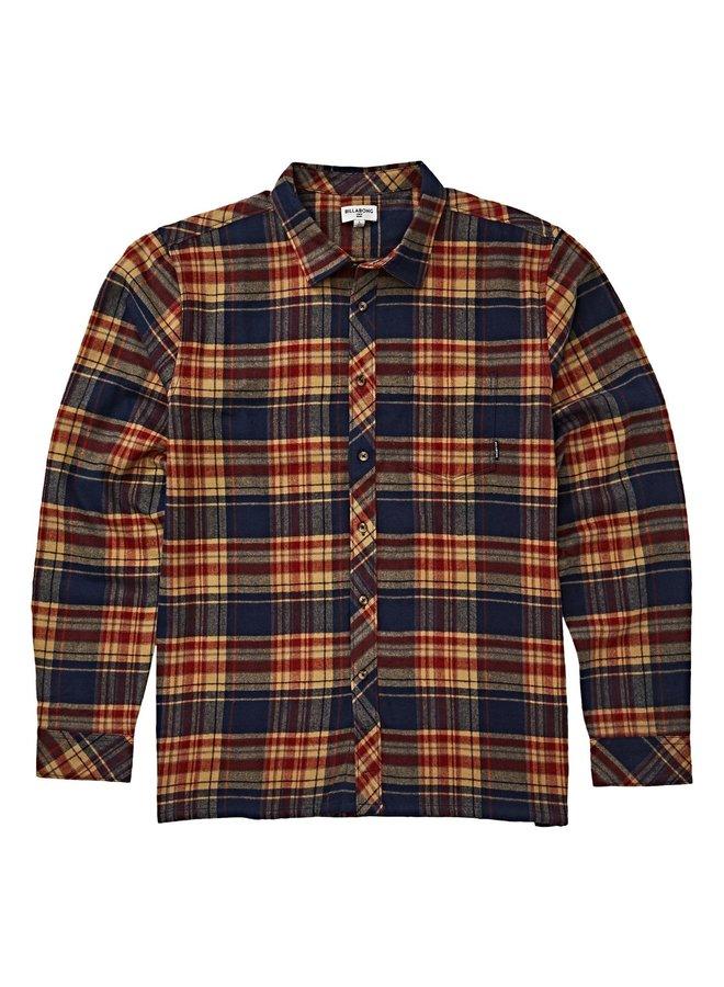 Boys' Coastline Long Sleeve Flannel - Navy