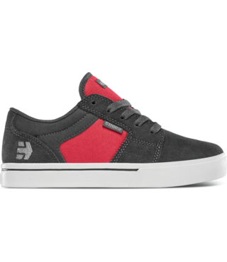 Kid's Barge LS Skate Shoes - Grey/Red
