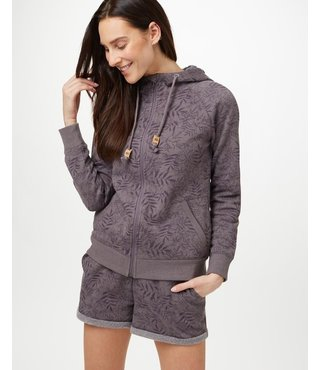 Women's Burney Zip Hoodie - Grey/Floral