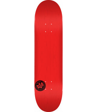 """8.25"""" Chevron Stamp 2 Dyed Red Skateboard Deck"""