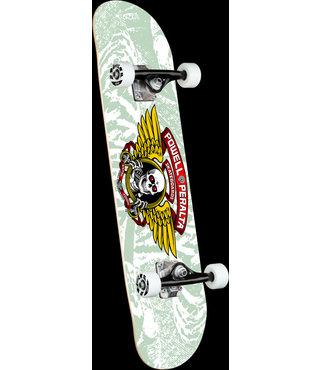 "8"" Mini Winged Ripper White Complete Skateboard"