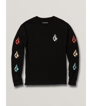 Boys Deadlystones Long Sleeve Tee - Blk