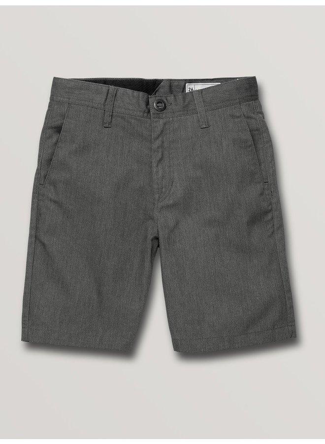 Boys Frickin Chino Short - Charcoal Hthr