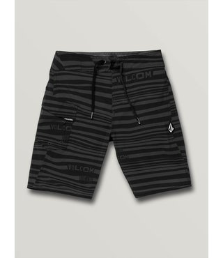 Boys Logo Stripe Mod-Tech Trunks - Blk