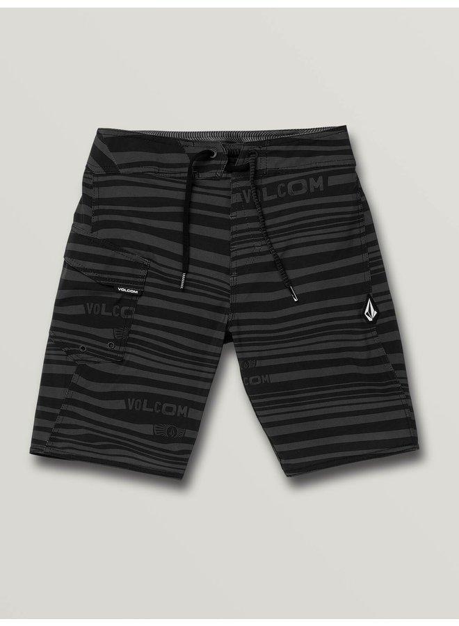 Boys Logo Stripe Mod-Tech Trunks - Blk