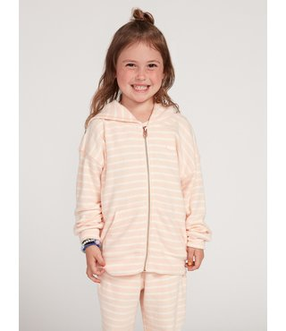 Little Girls Lived In Lounge Zip Up - Lt. Peach