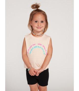 Little Girls Volcom Love Tank - Lt. Peach