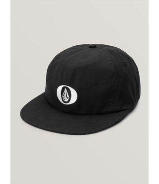 Stone O Strapback Hat - Black