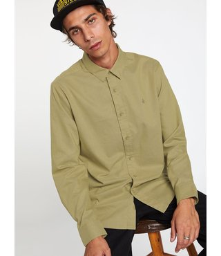 Oxford Stretch Long Sleeve Button Up - Moss