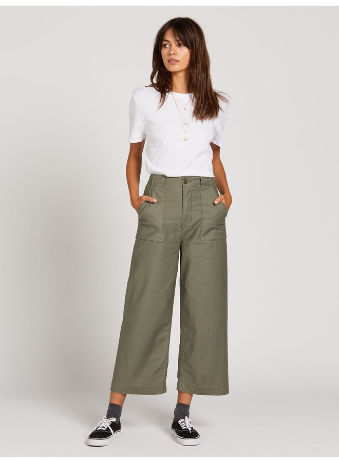 Army Whaler Wide Leg - Army Green Combo