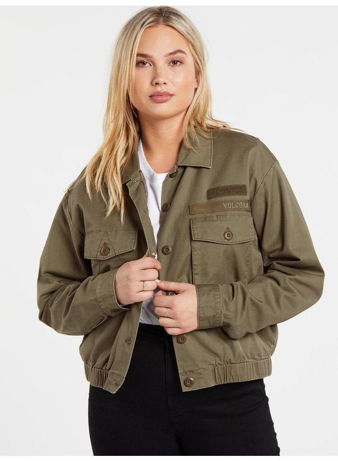 Army Whaler Jacket - Army Green Combo