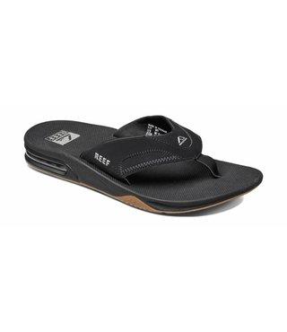 Fanning Sandals - Black/Silver