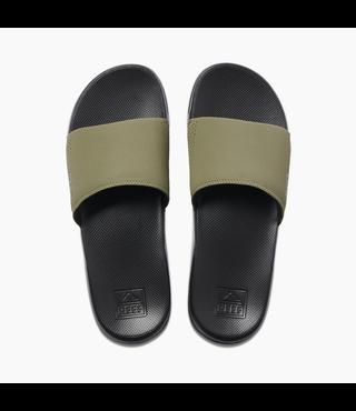 Reef One Slide Sandals - Black/Olive