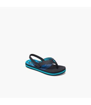 Little Ahi Sandals - Aqua Palms