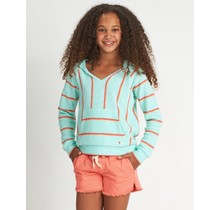 Girls' Sandy Stripes Hoodie - Seaglass