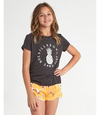 Girls' Sand And Surf T-Shirt - Off Black