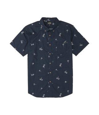 Boys' Sundays Mini Button Up Shirt - Navy