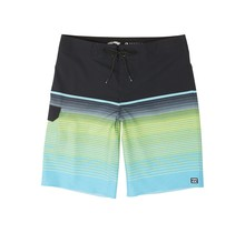 Boys' All Day Stripe Pro Boardshorts - Aqua