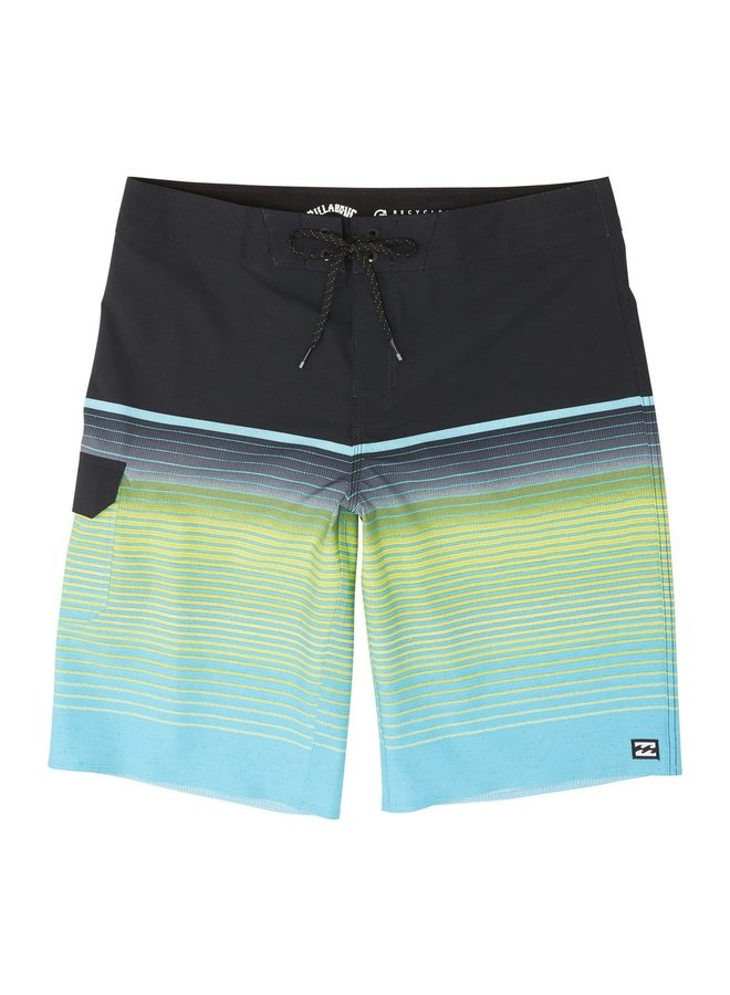 Boys' All Day Stripe Pro Boardshorts - Aqua