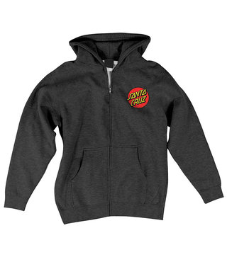 Classic Dot Zip Hoodie Youth - Charcoal Hthr