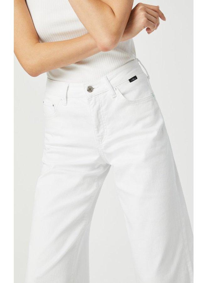 Bodrum in Off-White Stretch Wide Leg Jeans