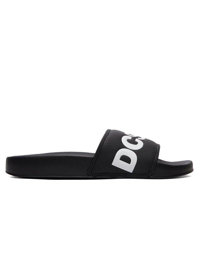 DC Slider Sandals - Black White