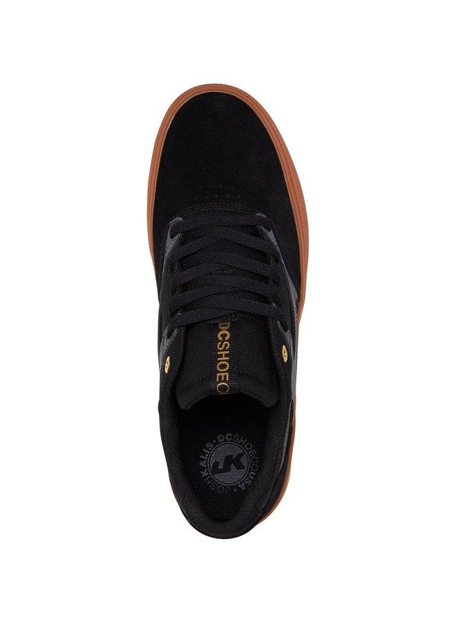 Kalis Vulc Leather Shoes - Black Grey