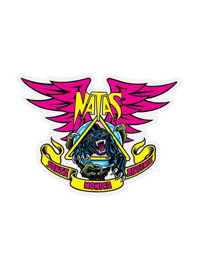 """Natas Panther 4.625"""" Sticker"""